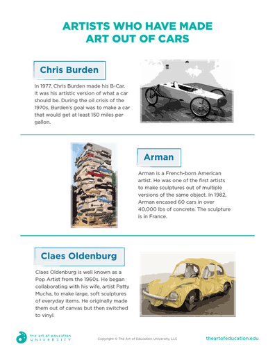 Artists Who Have Made Art Out of Cars - FLEX Assessment