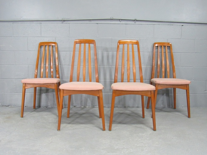 1960s Mid-Century Modern Scandinavian Set of Four Teak Dining Chairs by Svegards Markaryd