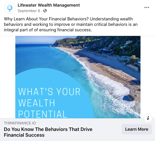 Lifewater Wealth Management Example 2