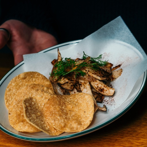 Chargrilled Oyster Mushrooms