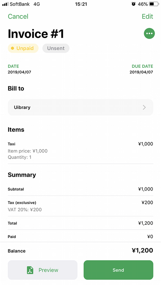 Invoice App Uibrary The Internet S Ui Design Resource