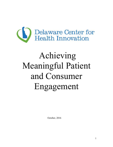 Achieving Meaningful Patient and Consumer Engagement