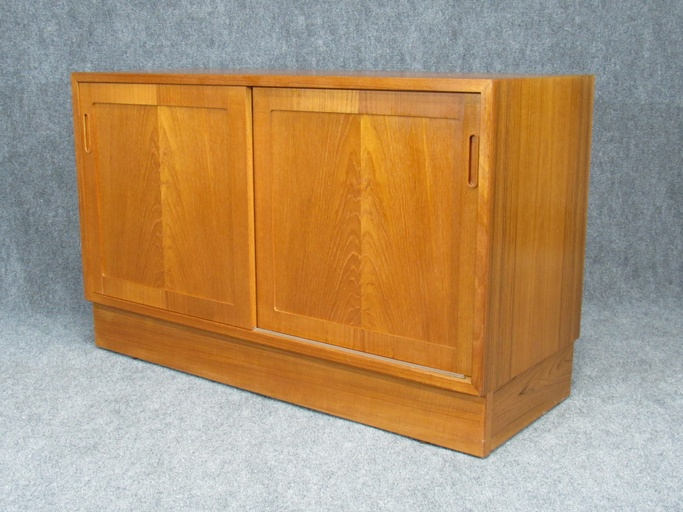Pair of Mid-Century, Danish Modern Teak Credenzas by Poul Hundevad for HU.  Circa 1960s.