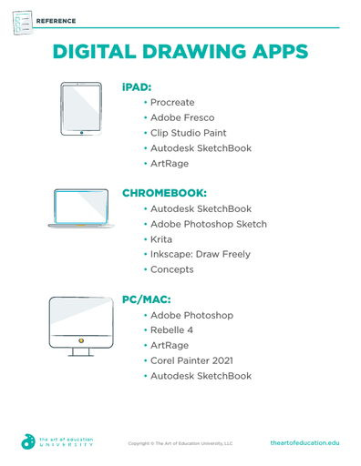Digital Drawing Apps - FLEX Resource