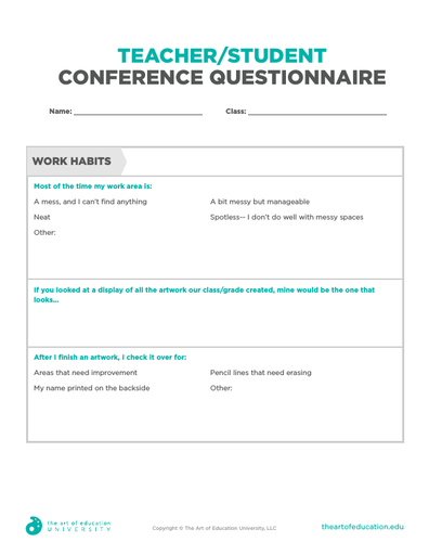Teacher/Student Conference Questionnaire - FLEX Assessment