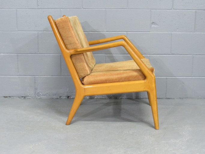 Orla Molgaard Nielsen for France & Daverkosen Beech Lounge Chair, Denmark, 1950s