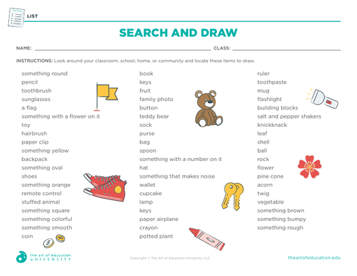 Search and Draw - FLEX Assessment