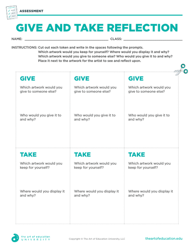 Give and Take Reflection - FLEX Assessment