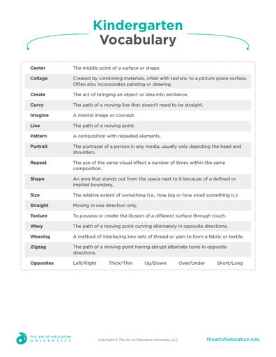 Kindergarten Vocabulary - FLEX Assessment