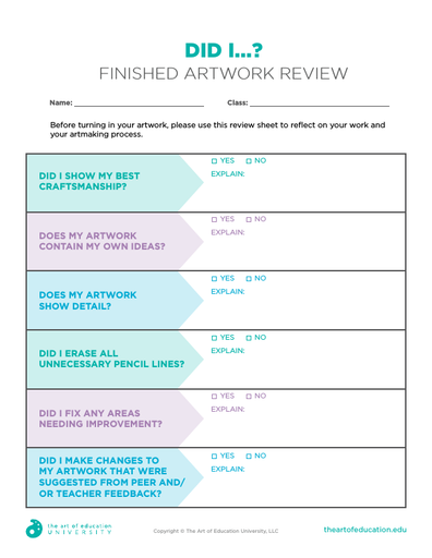 Did I? Finished Artwork Review - FLEX Assessment