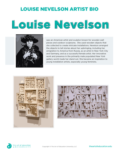 Louise Nevelson Artist Bio - FLEX Resource