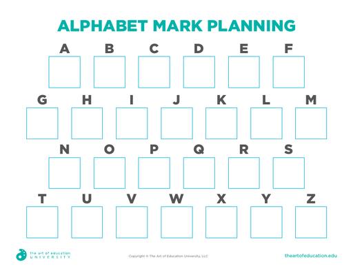 Alphabet Mark Planning - FLEX Resource