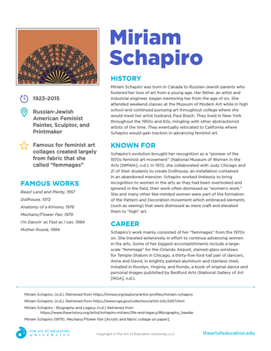 Miriam Schapiro - FLEX Resource