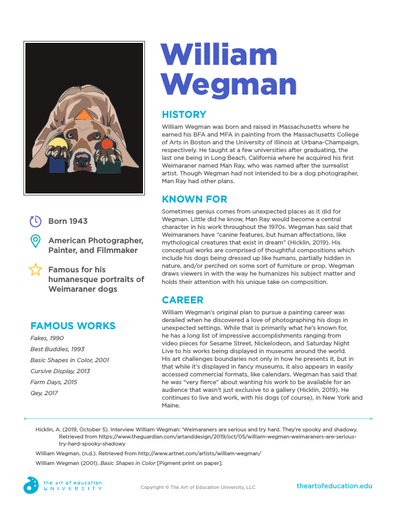 William Wegman - FLEX Resource