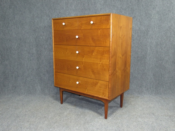 MId-Century Walnut Tall Chest of Drawers by Kipp Stewart for Drexel