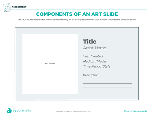 Components of an Art Slide - FLEX Assessment