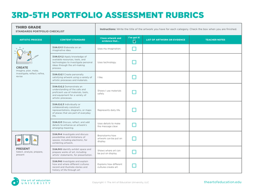 3-5 Portfolio Assessment Rubrics - FLEX Assessment