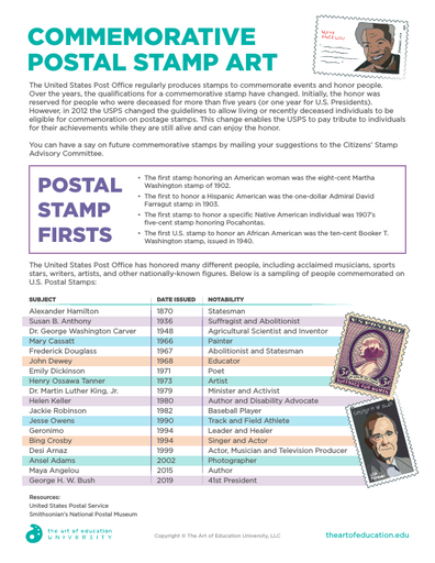Commemorative Postal Stamp Art - FLEX Resource