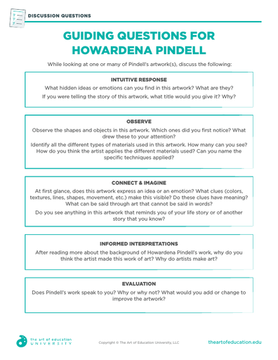 Guiding Questions for Howardena Pindell - FLEX Resource