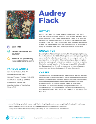 Audrey Flack - FLEX Resource