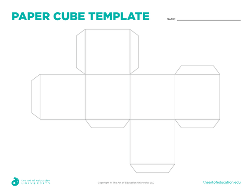 Paper Cube Template - FLEX Assessment