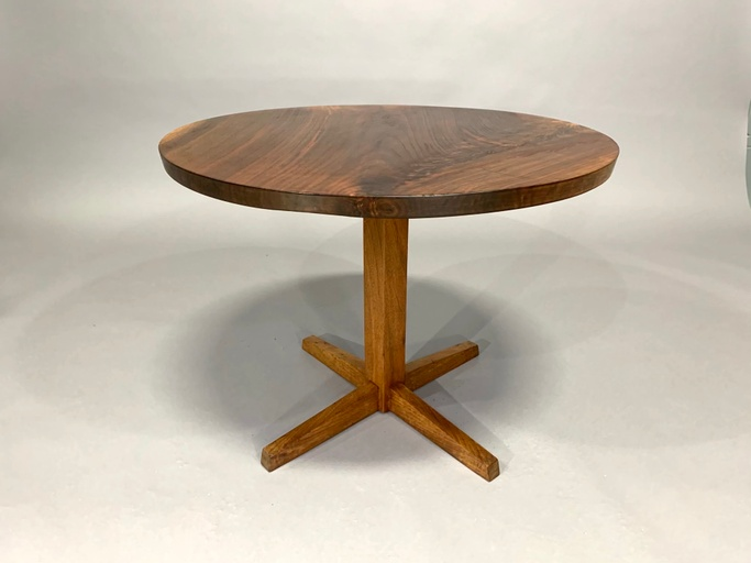 George Nakashima Circular Cocktail Pedestal Table