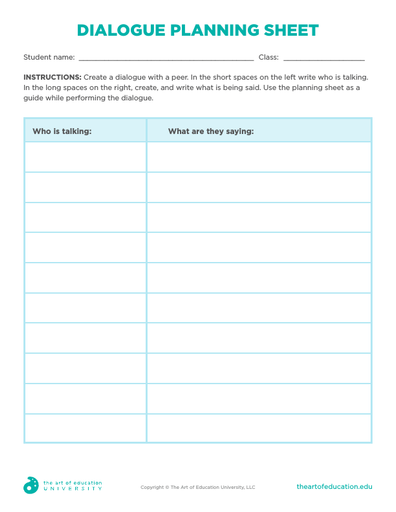 Dialogue Planning Sheet - FLEX Assessment
