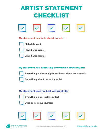 Artist Statement Checklist - FLEX Assessment