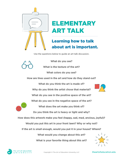Elementary Art Talk - FLEX Resource