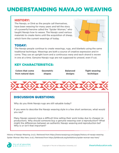 Understanding Navajo Weaving - FLEX Resource