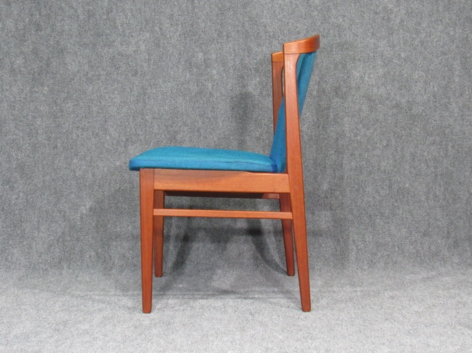 Set of Ten (10) Rare Mid-Century, Danish Modern Teak Dining Chairs by Erik Buck for Chr. Christiansen.  Circa 1960s.