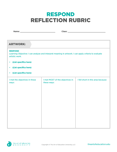 Respond Reflection Rubric - FLEX Assessment
