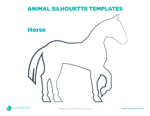 Animal Silhouette Template: Horse - FLEX Resource