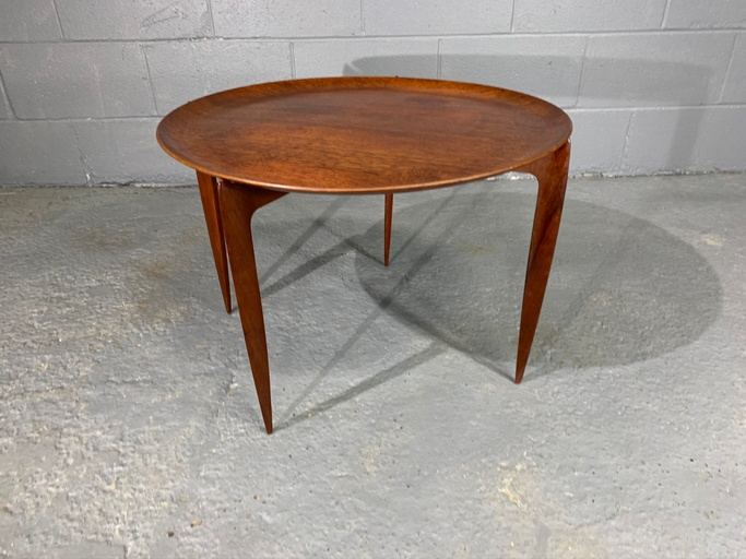 Danish Teak Tray Table by H. Engholm & Svend Åge Willumsen for Fritz Hansen