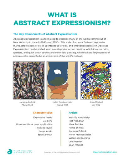 What is Abstract Expressionism? - FLEX Resource