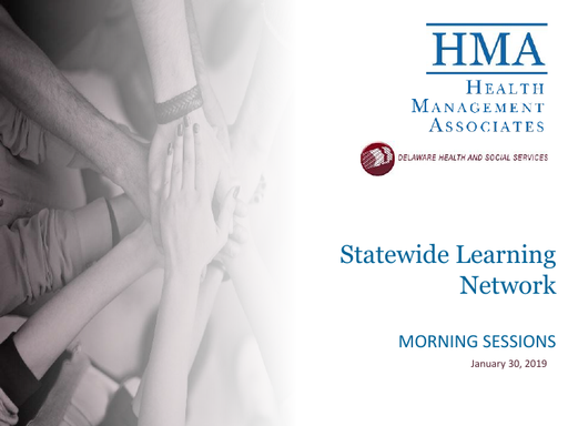 Statewide Learning Network - Morning Sessions