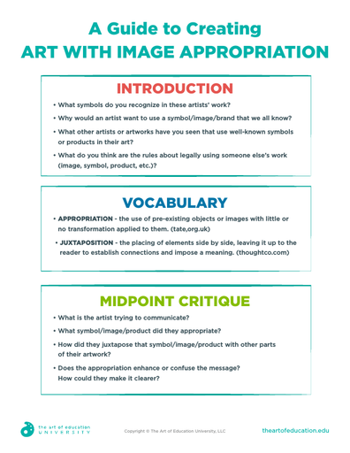 A Guide to Creating Art with Image Appropriation - FLEX Assessment
