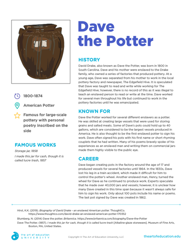 Dave The Potter - FLEX Resource