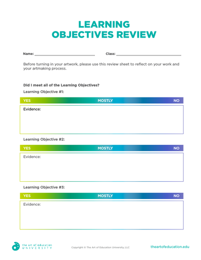 Learning Objectives Review - FLEX Resource