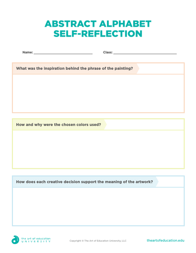Abstract Alphabet Self-Reflection - FLEX Assessment