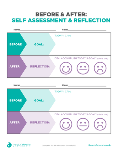 Before and After: Self Assessment & Reflection - FLEX Assessment