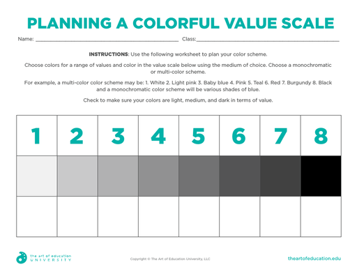 Planning a Colorful Value Scale - FLEX Assessment