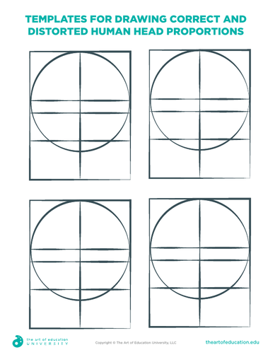 Templates for Drawing Distorted Human Head - FLEX Assessment