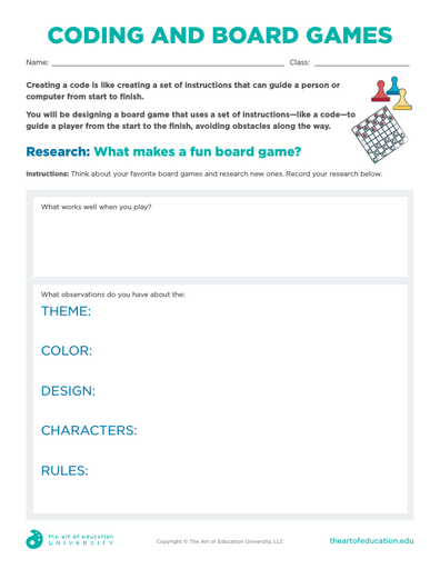 Coding and Board Games - FLEX Resource