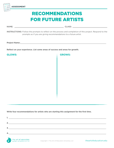 Recommendations For Future Artists - FLEX Resource