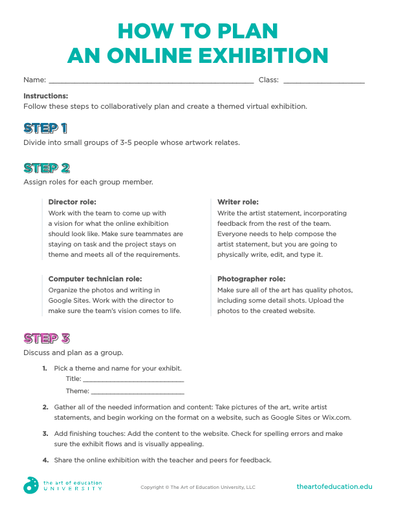 How to Plan an Online Exhibition - FLEX Assessment