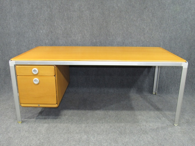 Danish Modern Desk by Arne Jacobsen made by Fritz Hansen for the Danish National Bank