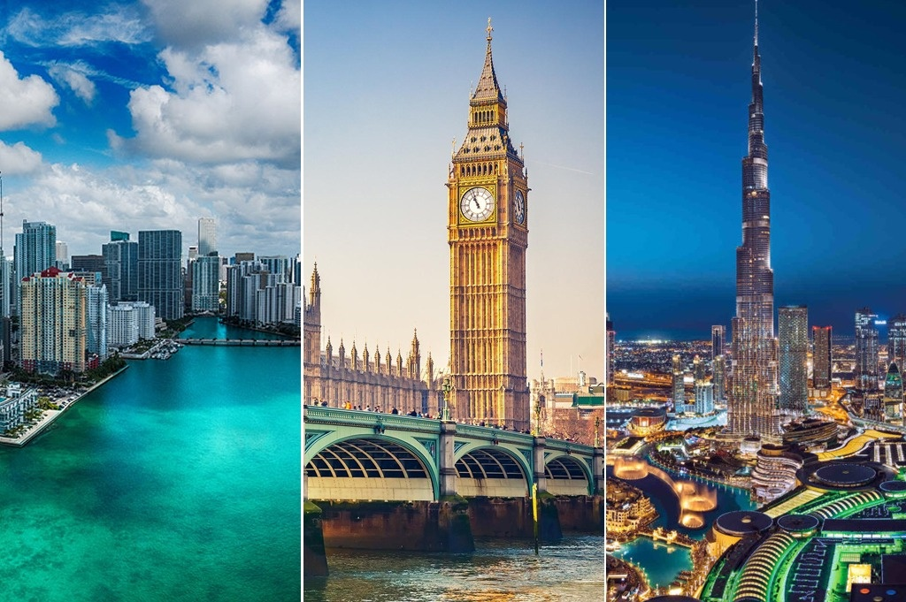 Top three cities for Real Estate Investment around the world