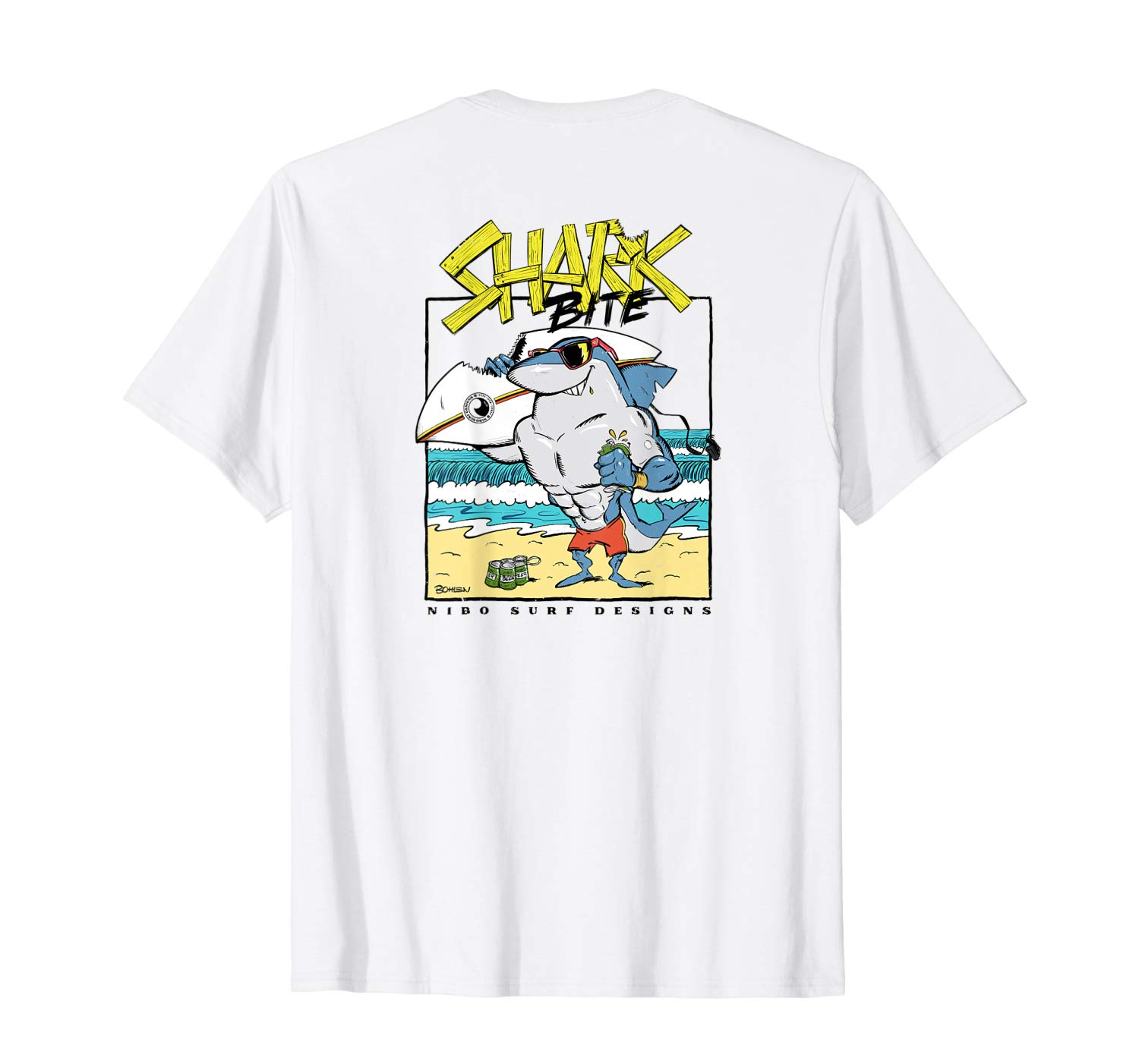 T-Shirt: Shark Bite Hawaii Maui Surf Design Illustration T-Shirt