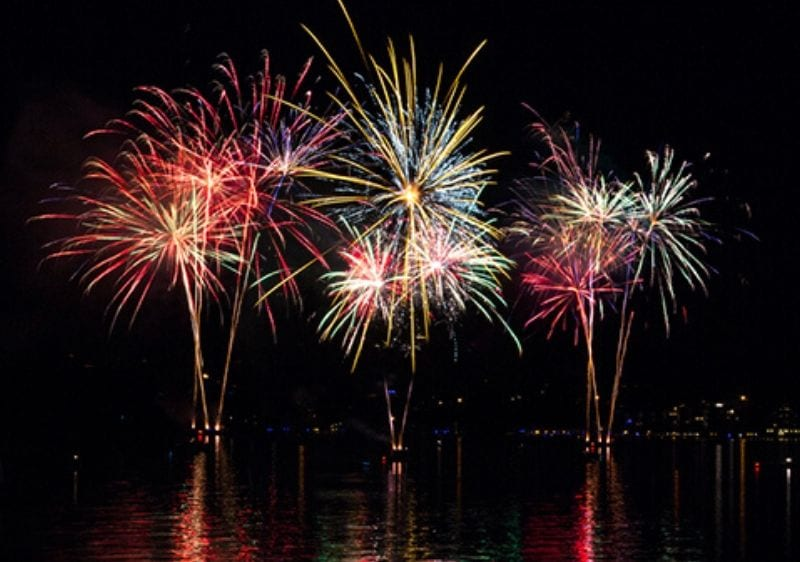 firework show on the Lake of the Ozark